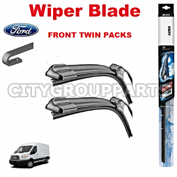 "FORD TRANSIT MK7 2014 AND 2017 AERO FLAT WIPER TWIN PACK BLADE 750MM 30"" & 530MM 21"""
